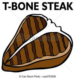 Drawn steak t bone