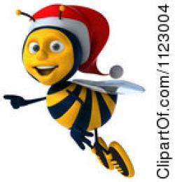 Bumblebee clipart christmas