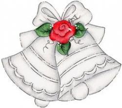 Vignette clipart wedding bell