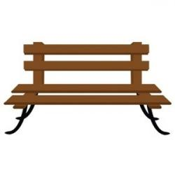 Park Bence clipart school bench