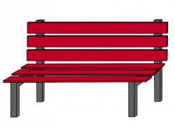 Playground clipart bench