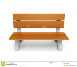 Wood clipart park bench
