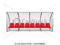 Soccer clipart bench