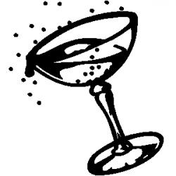 Tequila clipart black and white