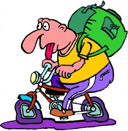 Tired clipart biker