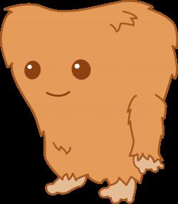 Sasquatch clipart cute