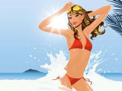 Bikini clipart open