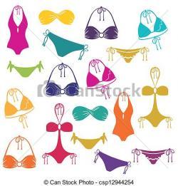 Bikini clipart vector