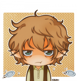 Bilbo Baggins clipart cute