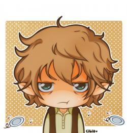 Bilbo Baggins clipart cute