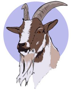 Goats Head clipart goat face