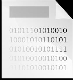 Binary clipart computer file