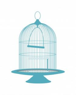 Teal clipart bird cage