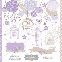 Purple clipart birdcage