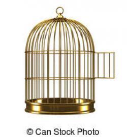 Birdcage clipart open