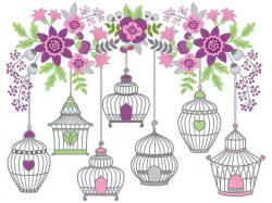 Lilac clipart bird flower