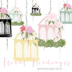 Cage clipart floral