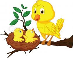 Bird's Nest clipart animal family