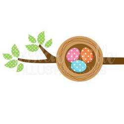 Bird's Nest clipart cute egg