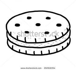 Cracker clipart black and white