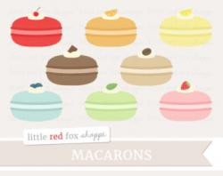 Macaron clipart french pastry