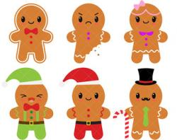 Gingerbread clipart men and woman