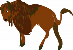 Bison clipart toy