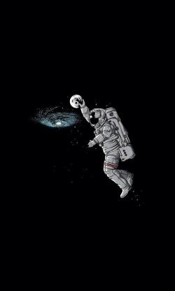 Drawn astronaut