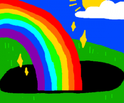 Black Hole clipart rainbow