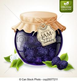 Jam clipart blackberry jam