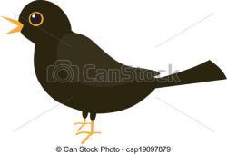 Blackbird clipart vector