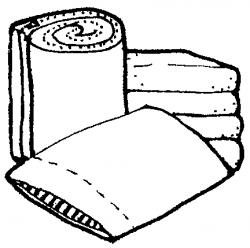 Towel clipart black and white