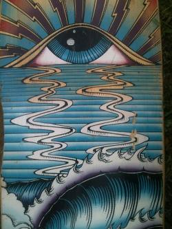 Drawn eye trippy