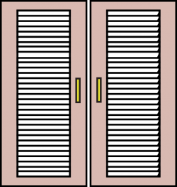 Blinds clipart closed window