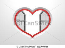 Blinds clipart heart