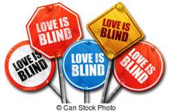Blinds clipart love is