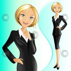 Blonde clipart businesswoman