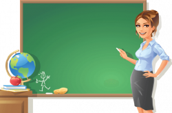 Blackboard clipart teaching