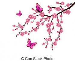Mauve clipart cherry blossom
