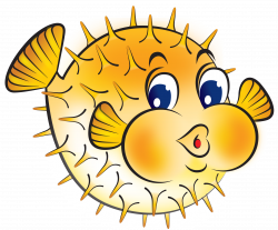 Pufferfish clipart different fish