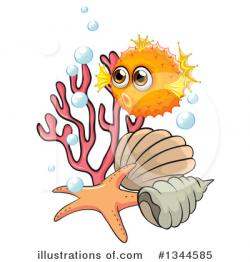Blowfish clipart marine animal