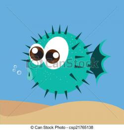 Blowfish clipart water animal