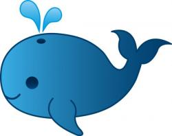 Colorful clipart whale