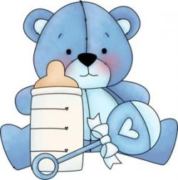 Light Blue clipart teddy bear