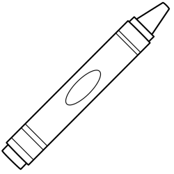 Crayon clipart outline
