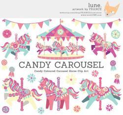 Carousel clipart cute