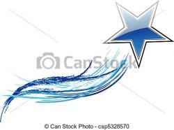 Comet clipart blue