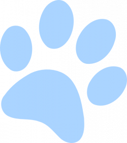 Light Blue clipart paw print