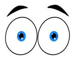 Shocking clipart wide eyed