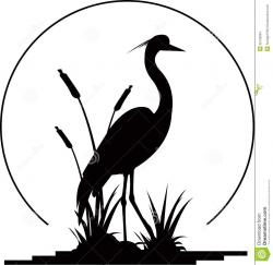Great Blue Heron clipart silhouette